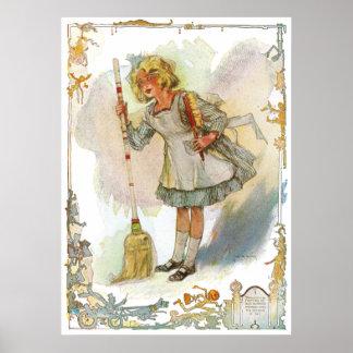Dorothy Does Housework Vintage Oz Poster