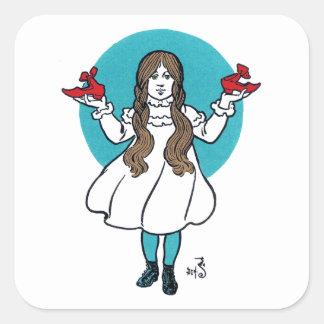 Dorothy: El mago de Oz maravilloso Pegatina Cuadrada