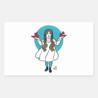 Dorothy: El mago de Oz maravilloso Pegatina Rectangular