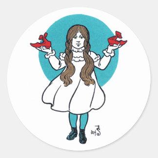 Dorothy: El mago de Oz maravilloso Pegatina Redonda