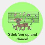 Dorothy el palillo ellos encima de bailarín pegatinas redondas