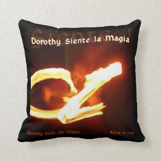 Dorothy Feels the Magic Throw Pillow