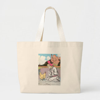 Dorothy Frees the Yellow Hen Large Tote Bag