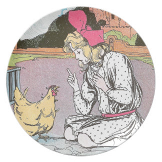 Dorothy Frees the Yellow Hen Party Plate