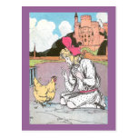 Dorothy Frees the Yellow Hen Postcard