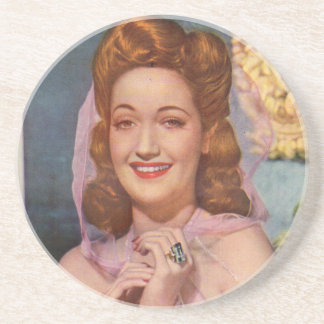 Dorothy Lamour 1940s star of the 'Road' pictures Drink Coaster