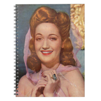 Dorothy Lamour 1940s star of the 'Road' pictures Spiral Notebook