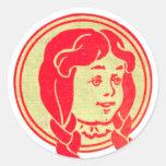 Dorothy, mago de Oz Etiquetas Redondas