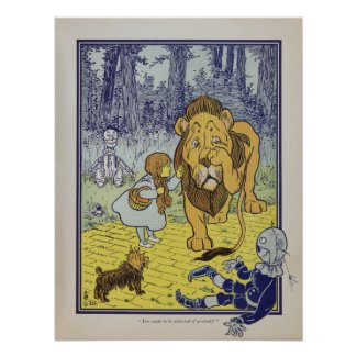 Dorothy meets the Cowardly Lion print