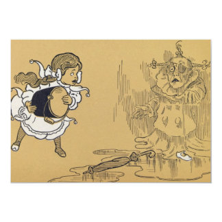 Dorothy melting Wicked Witch Wizard of Oz Card