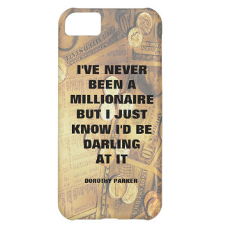 Dorothy Parker millionaire quote money background iPhone 5C Cover