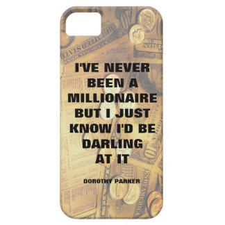 Dorothy Parker millionaire quote money background iPhone SE/5/5s Case