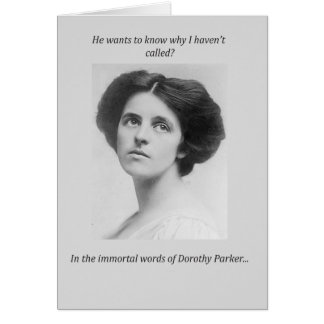 Dorothy Parker Quote Greeting Card