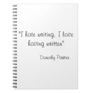 Dorothy Parker Quote on Notebook