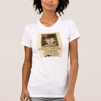 Dorothy Phillips 1917 Triumph film exhibitor ad T-shirt