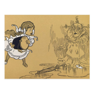 Dorothy que derrite a la bruja traviesa al oeste,  postal