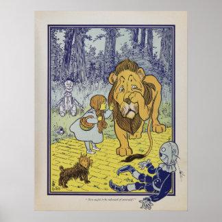 Dorothy resuelve el león cobarde poster