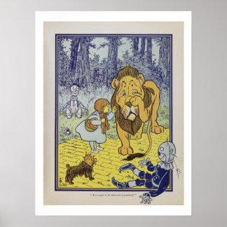 Dorothy resuelve el poster cobarde del león