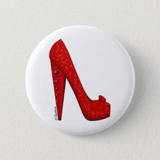 Dorothy Ruby Pump Pinback Button