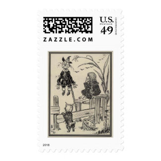 Dorothy, Scarecrow And Toto Postage