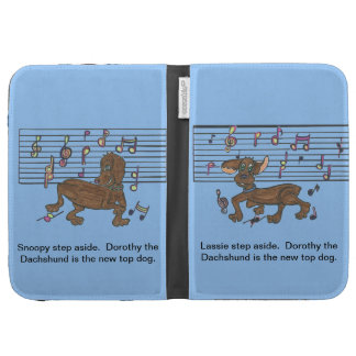 Dorothy the Dachshund dancing on your Kindle Cases