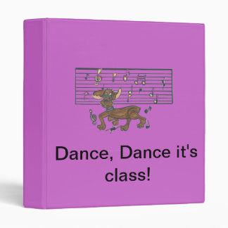 Dorothy the Dacshund dancing on your notebook. Binder