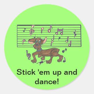 Dorothy The Dancing Dachshund Classic Round Sticker