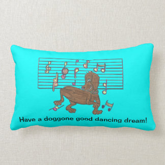 Dorothy the dancing dachshund on your pillow
