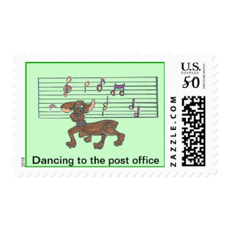 Dorothy The Dancing Dachshund Postage