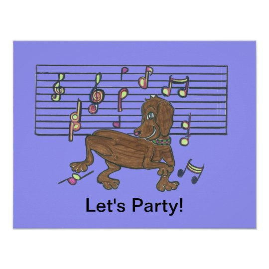 Dorothy the Dancing Dachshund Poster