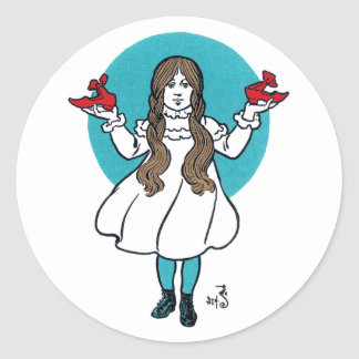 Dorothy: The Wonderful Wizard of Oz Classic Round Sticker