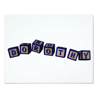 Dorothy toy blocks in blue card