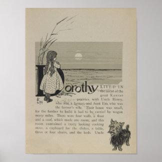 Dorothy vivió en las grandes praderas de Kansas Poster