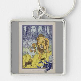 Dorothy y el león cobarde de mago de Oz Llavero