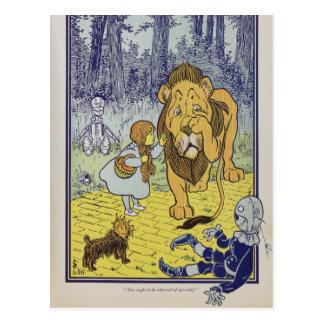 Dorothy y el león cobarde de mago de Oz Postal