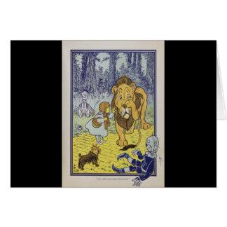 Dorothy y el león cobarde de mago de Oz Tarjeta De Felicitación