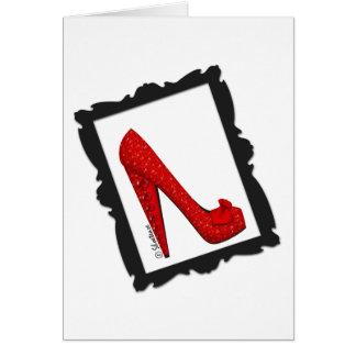 Dorothy's Framed Ruby Red Heels Card