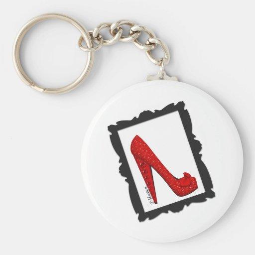 Dorothy's Framed Ruby Red Heels Keychain