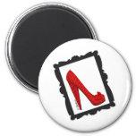 Dorothy's Framed Ruby Red Heels Magnets