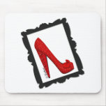 Dorothy's Framed Ruby Red Heels Mouse Pad
