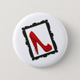 Dorothy's Framed Ruby Red Heels Pinback Button