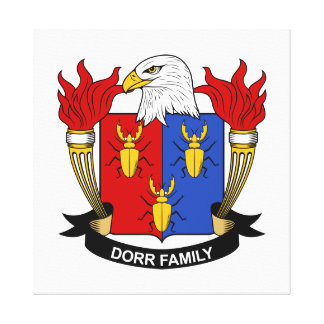 Dorr Family Crest Stretched Canvas Prints