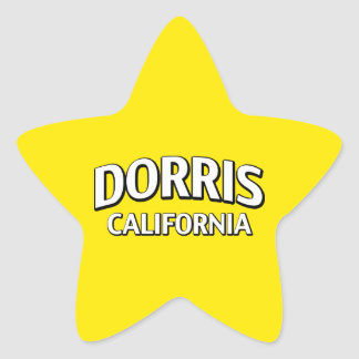 Dorris California Pegatina En Forma De Estrella