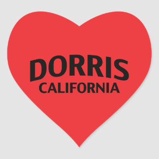 Dorris California Pegatina En Forma De Corazón