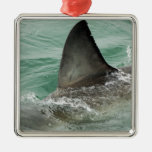 Dorsal aileron of a Great White shark Metal Ornament