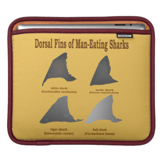 Dorsal fins of man-eating sharks sleeve for iPads