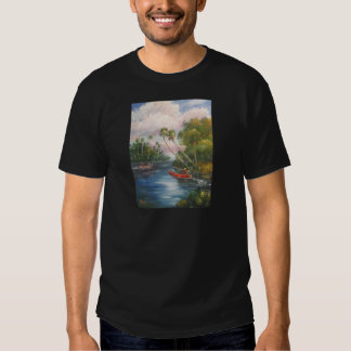 Dorsal Fishing Post - Fish Camp St. Lucie River T Shirt