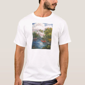 Dorsal Fishing Post - Fish Camp St. Lucie River T-Shirt