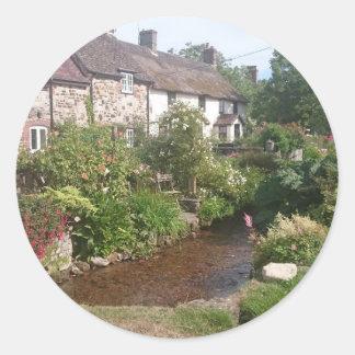 Dorset Cottage, England Classic Round Sticker