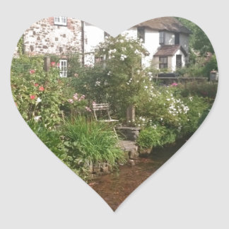 Dorset Cottage, England Heart Sticker